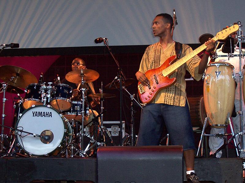 Concert Salif Keita au parc de Brooklyn.