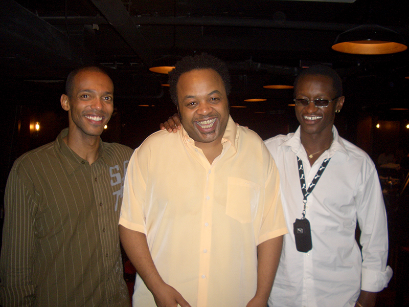 A new-York avec Jeff Tain Watts et Roger Biwandu.